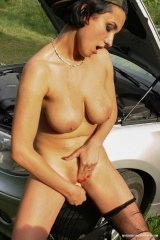 Preview My Boobs Uncensored - Extasi Busty Brunette Mechanic In Pantyhose